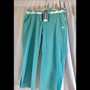 New Adidas Capri Crop Pant Golf L
